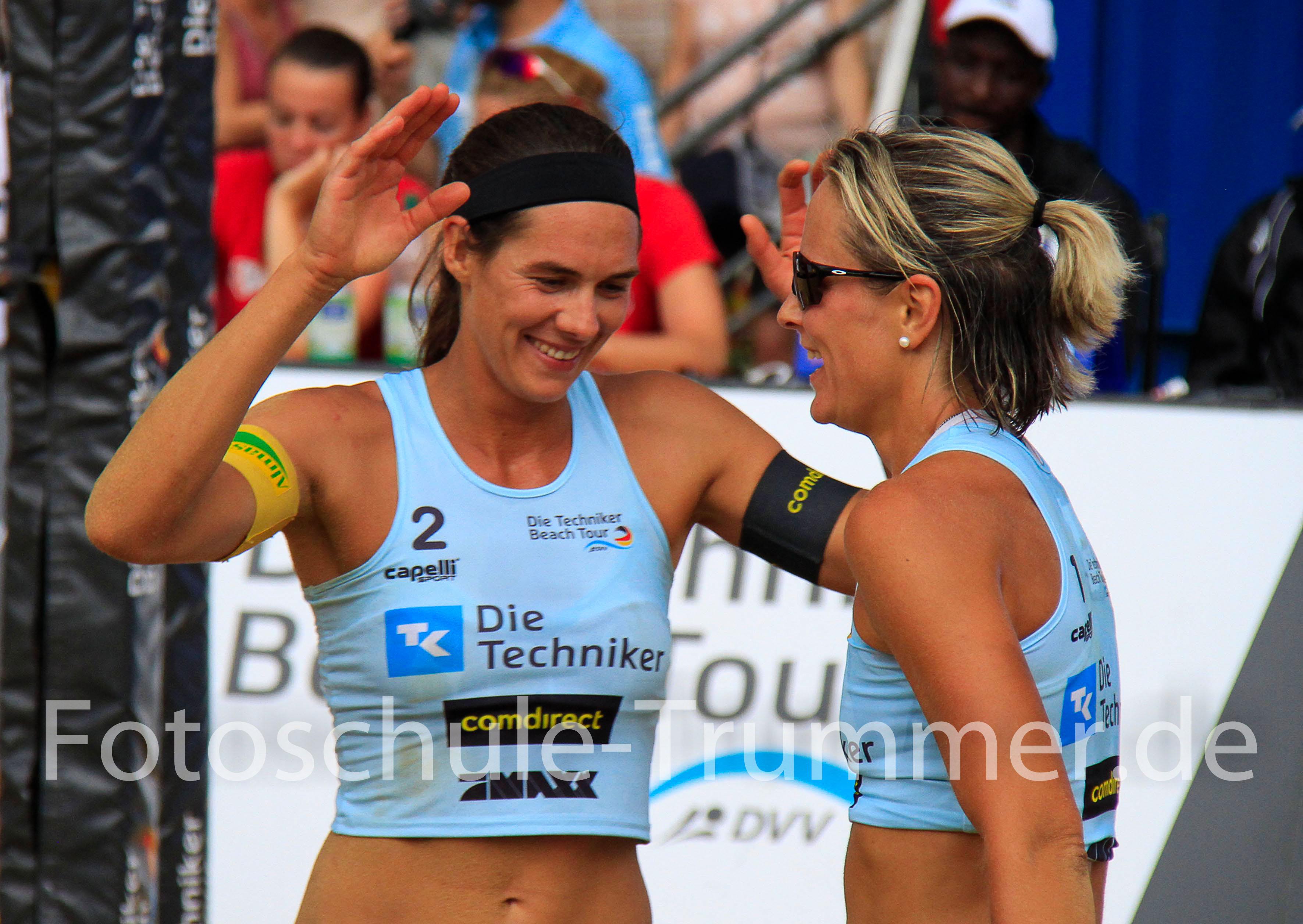 Beach Team Olympia siegerin Kira Wolkenhorst und Elena Kiesling